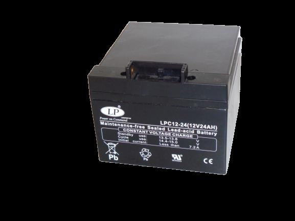 Suljettu AGM-VRLA akku-12V/24Ah/166x175x125/T4